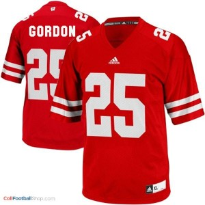 Melvin Gordon UW Badger #25 Youth - Red Jersey