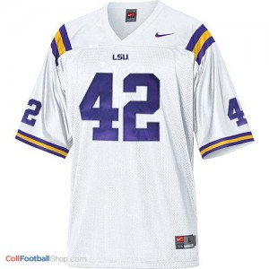 Michael Ford LSU Tigers #42 Mesh - White Jersey