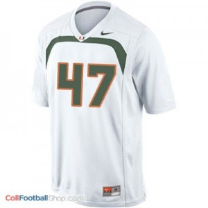Michael Irvin U of M Hurricanes #47 - White Jersey