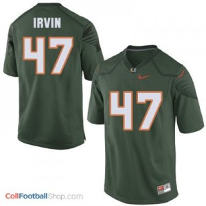 Michael Irvin Miami Hurricanes #47 Youth - Green Jersey
