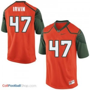 Michael Irvin Miami Hurricanes #47 Youth - Orange Jersey