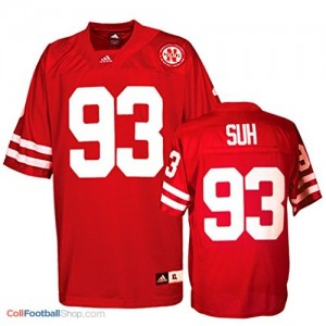 Ndamukong Suh UN Cornhuskers #93 Youth - Red Jersey