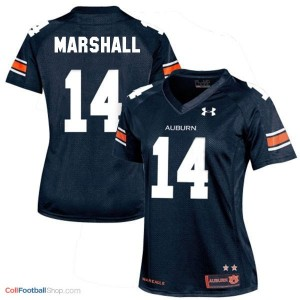 Nick Marshall AU Tigers #14 Women - Navy Blue Jersey