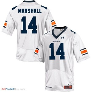Nick Marshall AU Tigers #14 Youth - White Jersey