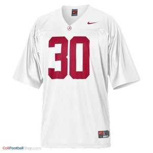 UA Crimson Tide Dont'a Hightower #30 White Youth Jersey