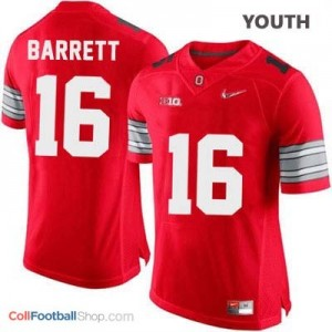 J.T. Barrett OSU #16 Diamond Quest Playoff - Scarlet Red - Youth Jersey