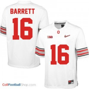 J.T. Barrett OSU #16 Diamond Quest Playoff - White Jersey