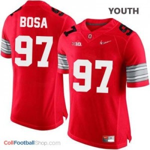 Joey Bosa OSU #97 Diamond Quest Playoff - Scarlet Red - Youth Jersey