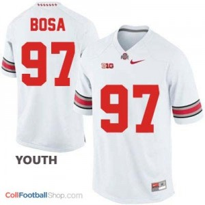 Joey Bosa OSU Buckeye #97 - White - Youth Jersey