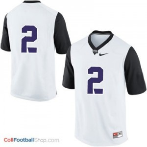 TCU Horned Frogs #2 College - White Jersey