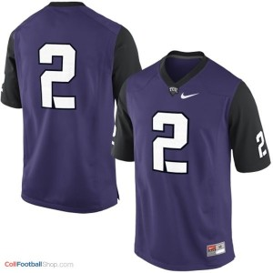TCU Horned Frogs #2 College - Purple Jersey
