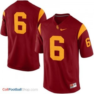 USC Trojans #6 College - Red Jersey