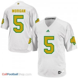 Nyles Morgan ND Irish #5 Shamrock Series Youth - White Jersey