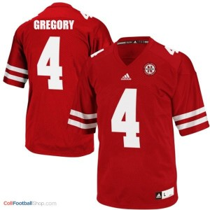 Randy Gregory UN Cornhuskers #4 Youth - Red Jersey