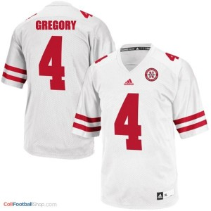 Randy Gregory UN Cornhuskers #4 Youth - White Jersey