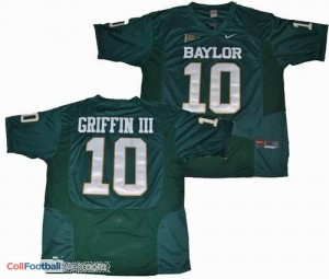 Robert Griffin III Baylor University #10 Youth - Green Jersey