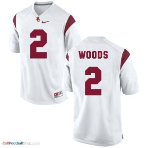 Robert Woods USC Trojans #2 Youth - White Jersey
