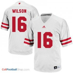 Russell Wilson UW Badger #16 Youth - White Jersey
