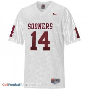 Sam Bradford OU Sooner #14 Youth - White Jersey