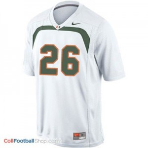Sean Taylor U of M Hurricanes #26 - White Jersey