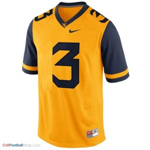 Stedman Bailey WVU Mountaineer #3 - Gold Jersey