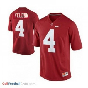 T.J. Yeldon UA Crimson Tide #4 Youth - Crimson Red Jersey