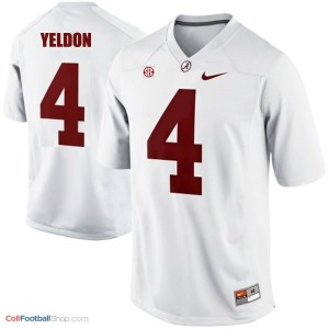 T.J. Yeldon UA Crimson Tide #4 Youth - White Jersey
