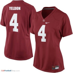 T.J. Yeldon UA Crimson Tide #4 Women - Crimson Red Jersey