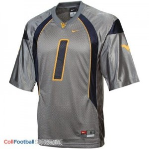 Tavon Austin WVU Mountaineer #1 Youth - Gray Jersey