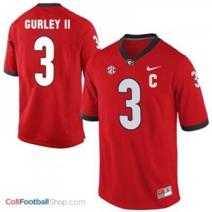 Todd Gurley Georgia Bulldogs #3 C Patch - Red Jersey
