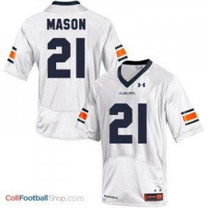 Tre Mason AU Tigers #21 Youth - White Jersey