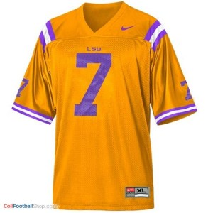 Tyrann Mathieu LSU Tigers #7 Mesh Youth - Gold Jersey