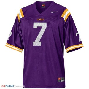 Tyrann Mathieu LSU Tigers #7 Mesh Youth - Purple Jersey