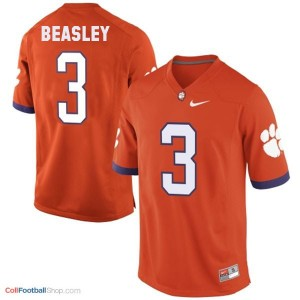 Vic Beasley Clemson Tigers #3 - Orange Jersey