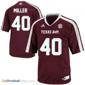 Von Miller Texas A&M Aggies #40 Youth - Maroon Red Jersey