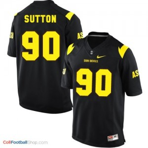 Will Sutton ASU Sun Devils #90 Youth - Black Jersey