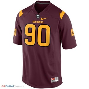 Will Sutton (ASU) #90 Youth - Red Jersey