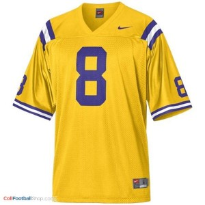 Zach Mettenberger LSU Tigers #8 Mesh - Gold Jersey