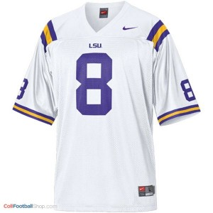 Zach Mettenberger LSU Tigers #8 Mesh Youth - White Jersey