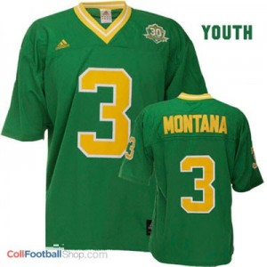 Joe Montana ND Irish #3 Youth - Green Jersey